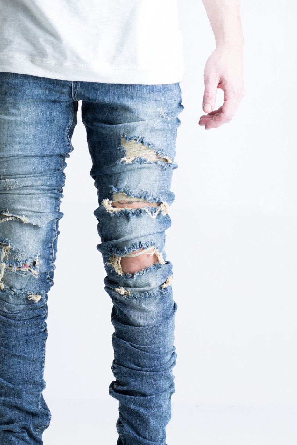 Cano Stacked Denim (Ripped Blue)