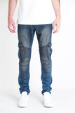 Charger Biker Denim (Blue Vintage Wash)