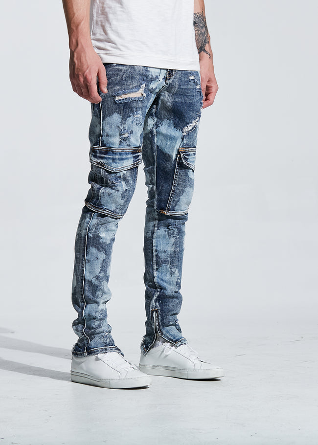 Darren Cargo Denim (Blue Paint)