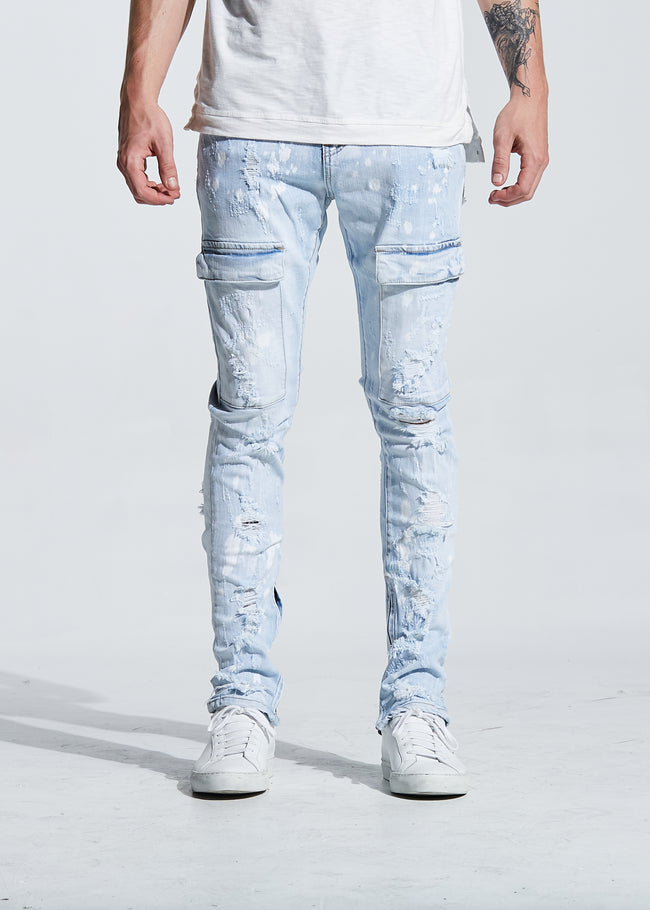 Darren Cargo Denim (Light Blue)