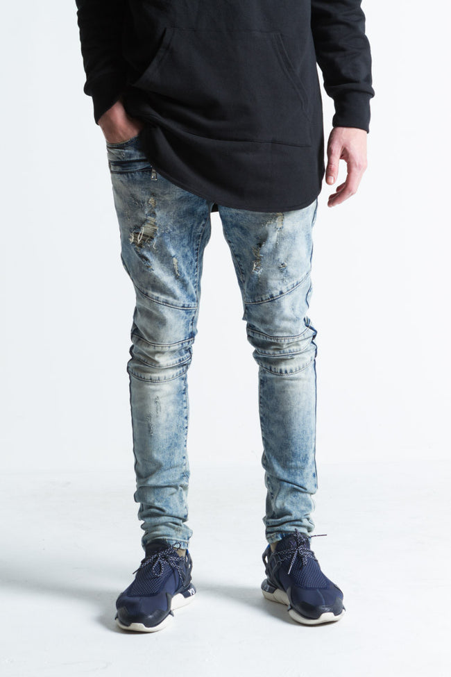 Diablo Ripped Standard Denim (Dirty Blue)