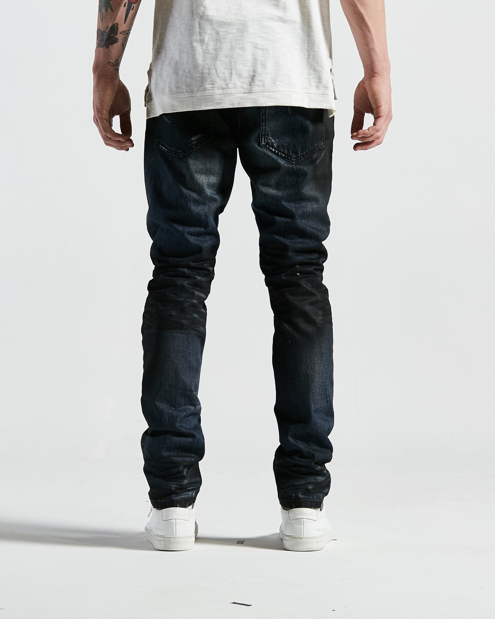 Bad Biker Denim in Deep Indigo Wash