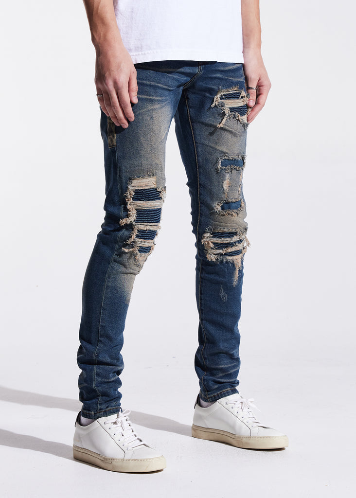 Bower Rip & Repair Denim (Indigo Cheetah)