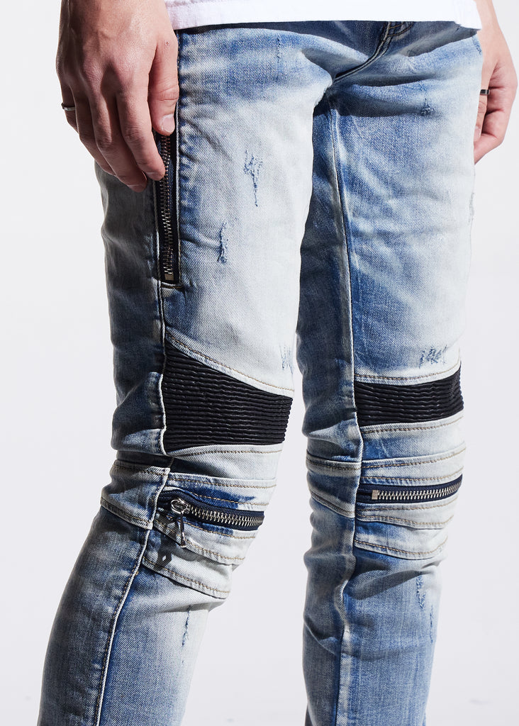Sunny Biker Denim (Light Indigo)