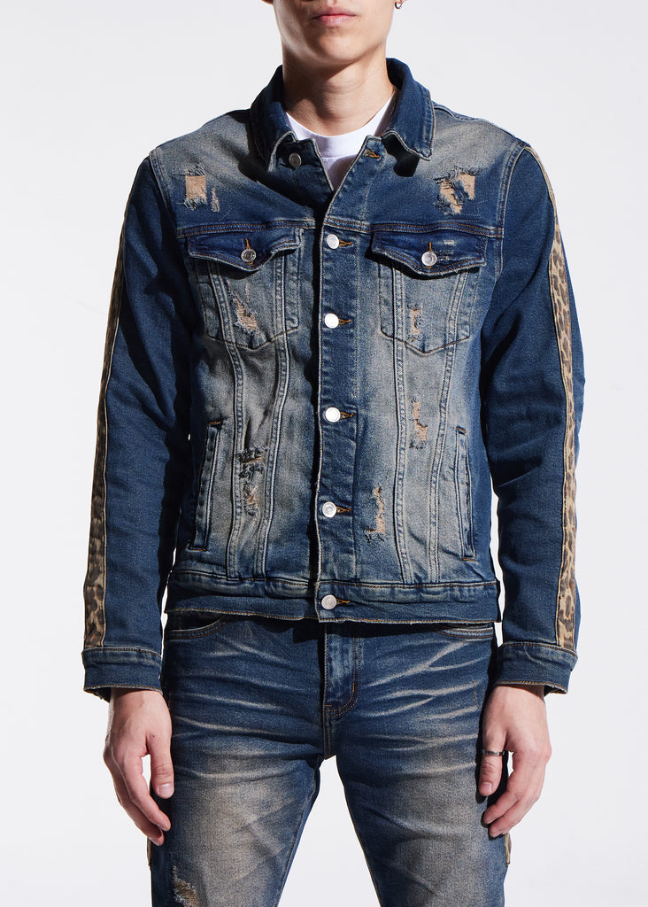 Bower Denim Jacket (Indigo Cheetah)