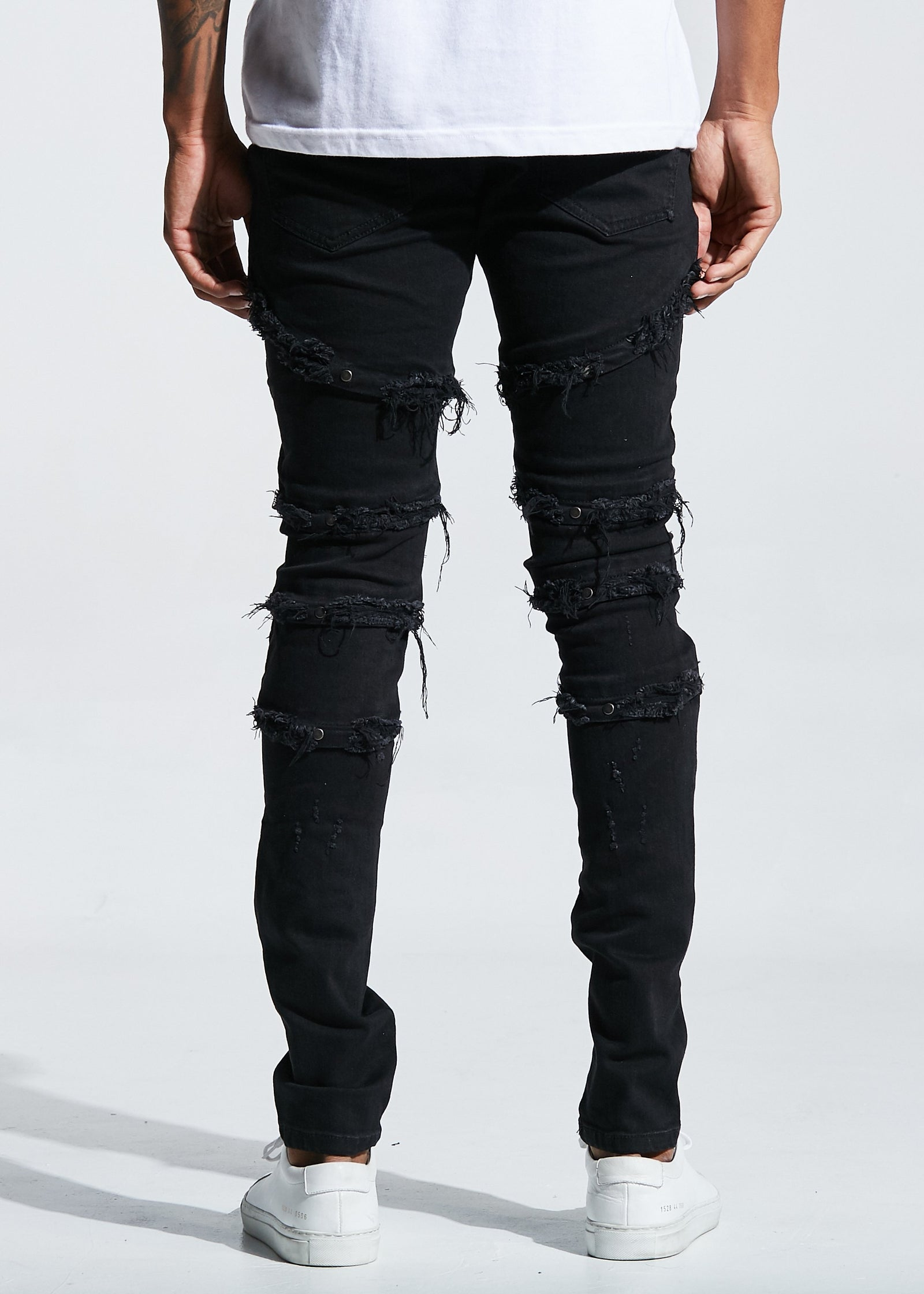 Capone Denim (Black Ripped)