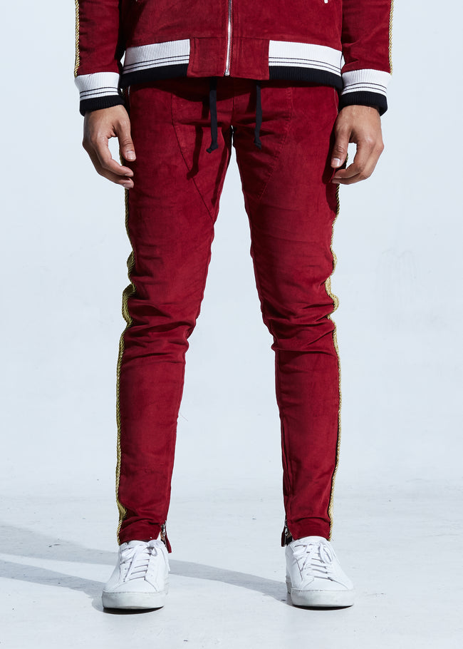 Corduroy Track Pants (Red)