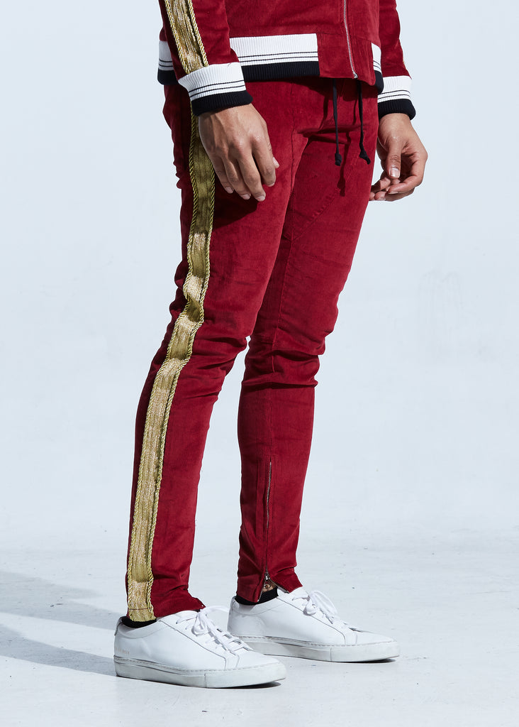 Monarch Track Pants (Red/Gold)