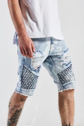 Turkish Biker Shorts (Light Wash)