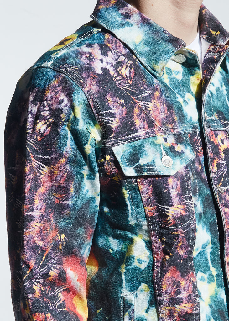 Goff Tie Dye Denim Jacket