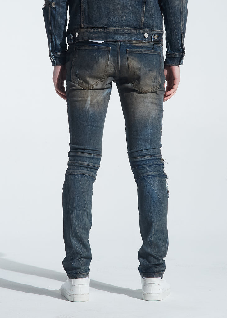 Rivers Biker Denim (Dirty Indigo Wash)