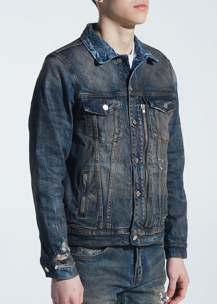 Rivers Denim Jacket (Dirty Indigo Wash)