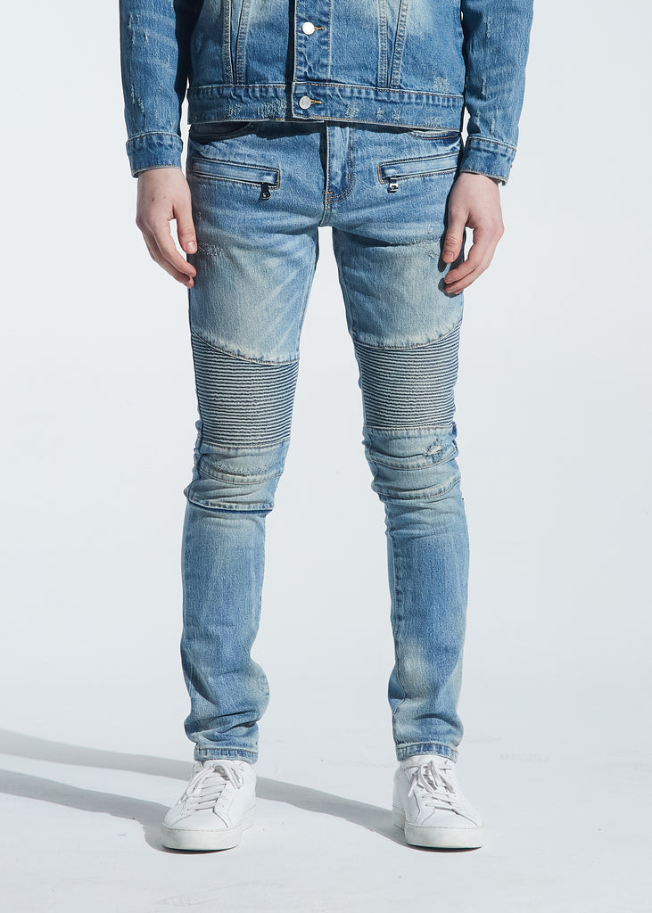 Brady Biker Denim (Indigo Wash)