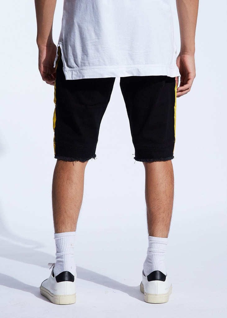 Bolt Biker Shorts (Black/Yellow)