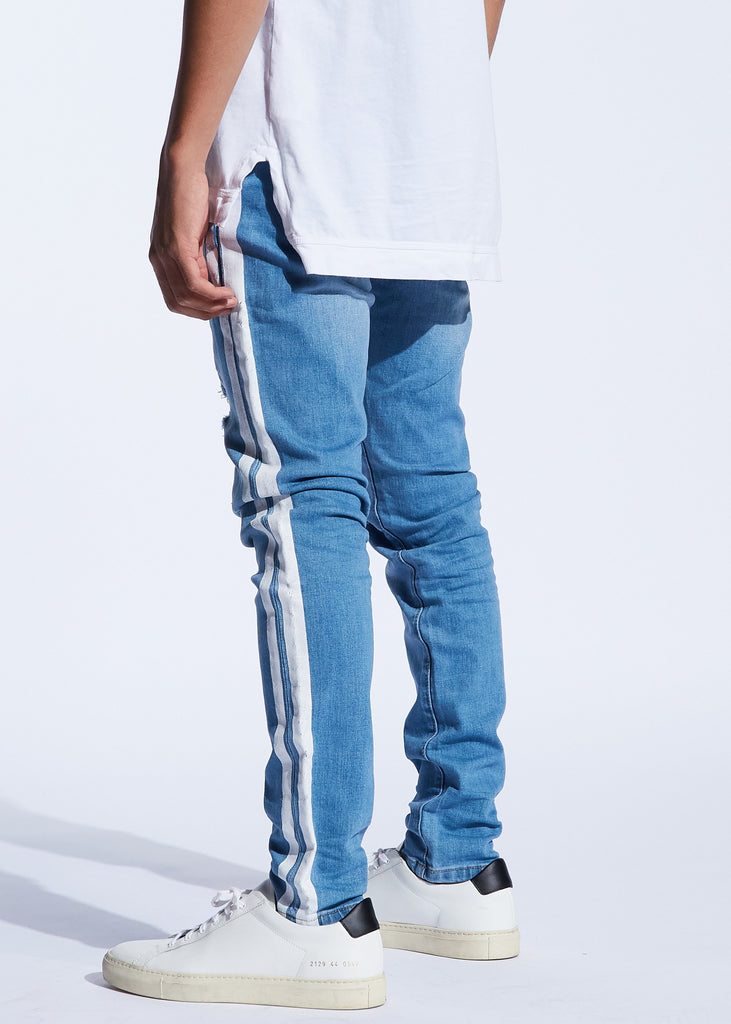 Bolt Denim (Blue/White)