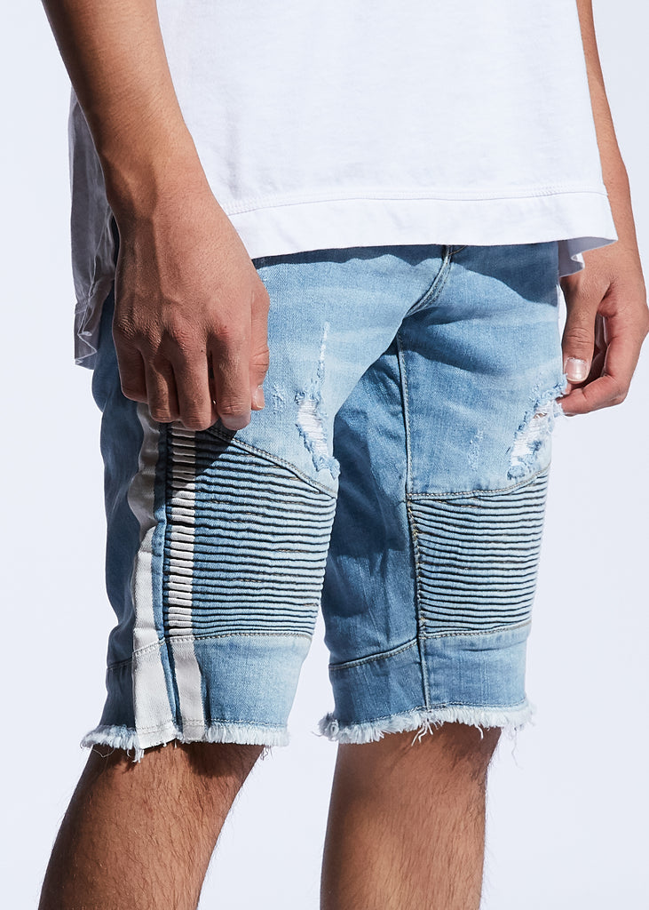 Bolt Biker Shorts (Blue/White)