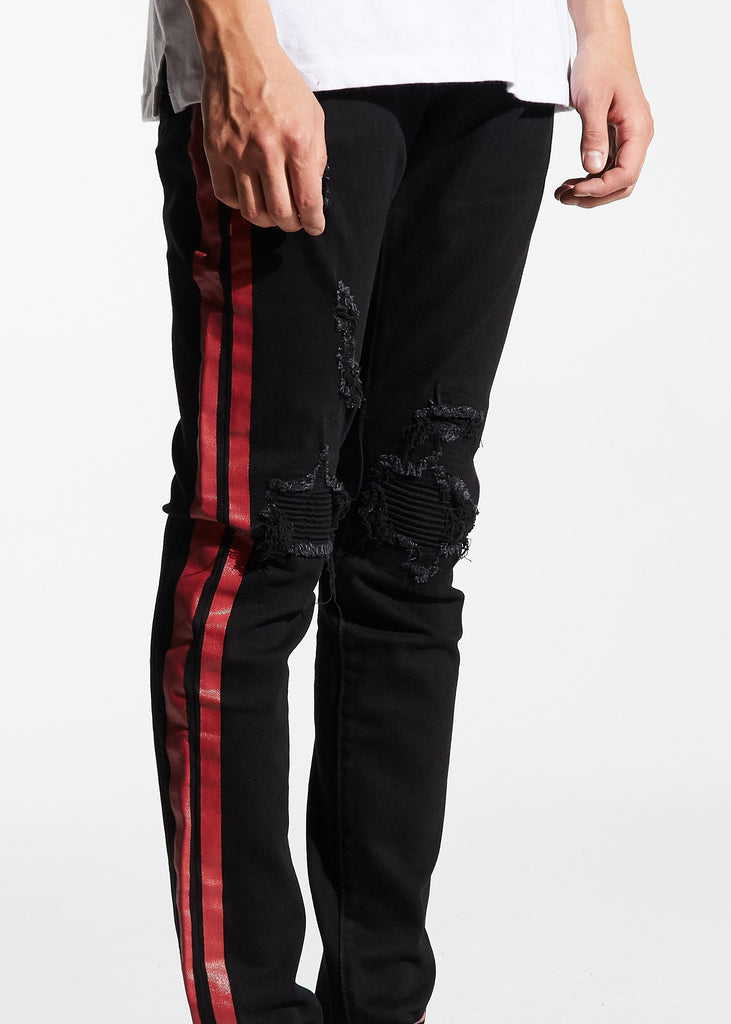 Bolt Standard Denim (Black/Red)