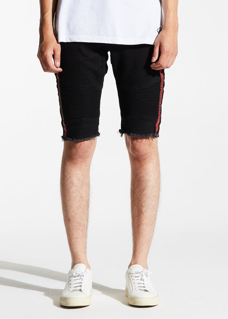 Bolt Biker Shorts (Black/Red)
