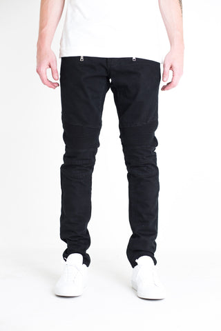 Turkish Biker Denim (Black Acid Wash)