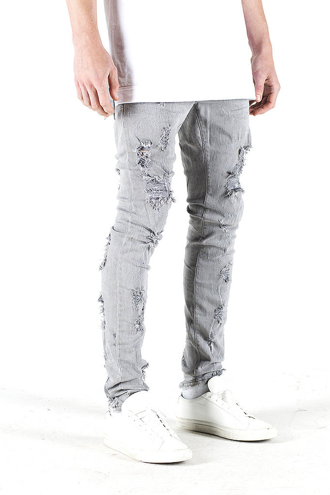 Erika Shotgun Denim (Light Grey)