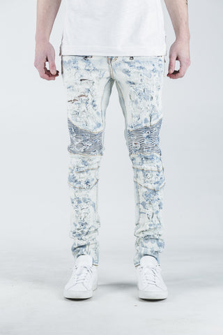 Gypsy Biker Denim (Bleach Blue)