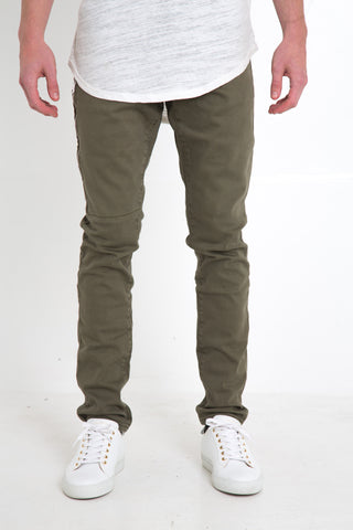 Deluxe Pocket Zip Pants (Olive)