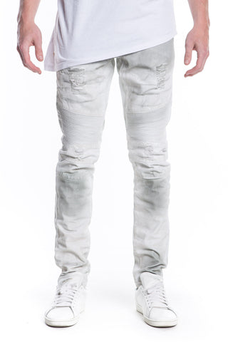 Malibu Biker Denim (White Gradient)