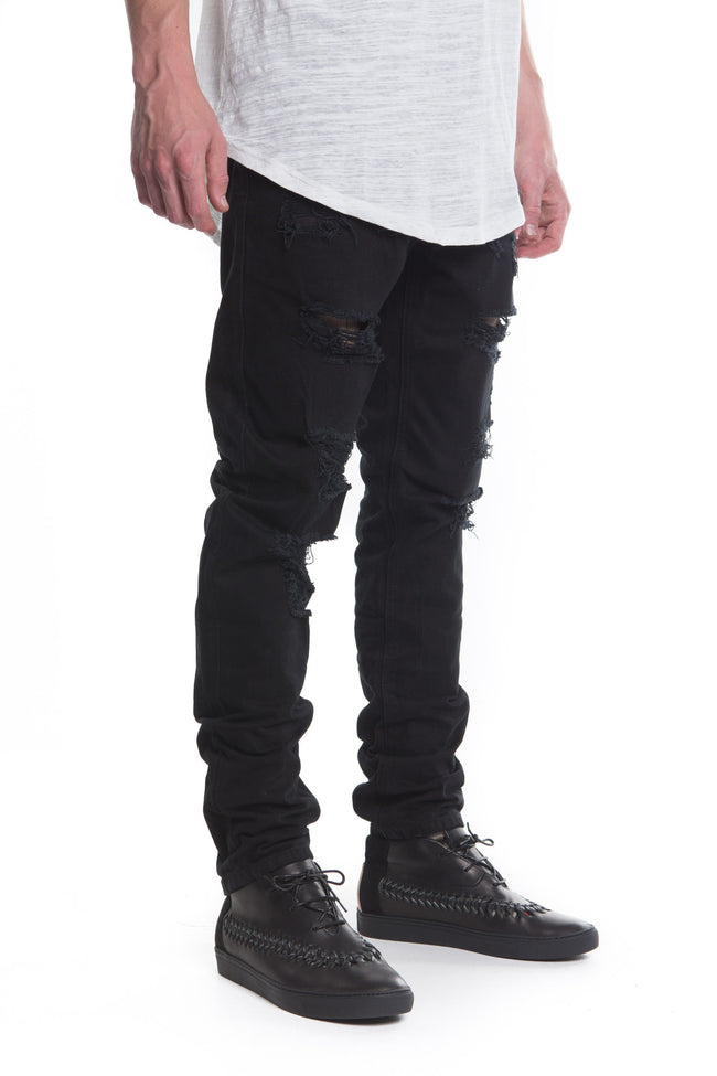 California Ripped Standard Denim (Black)