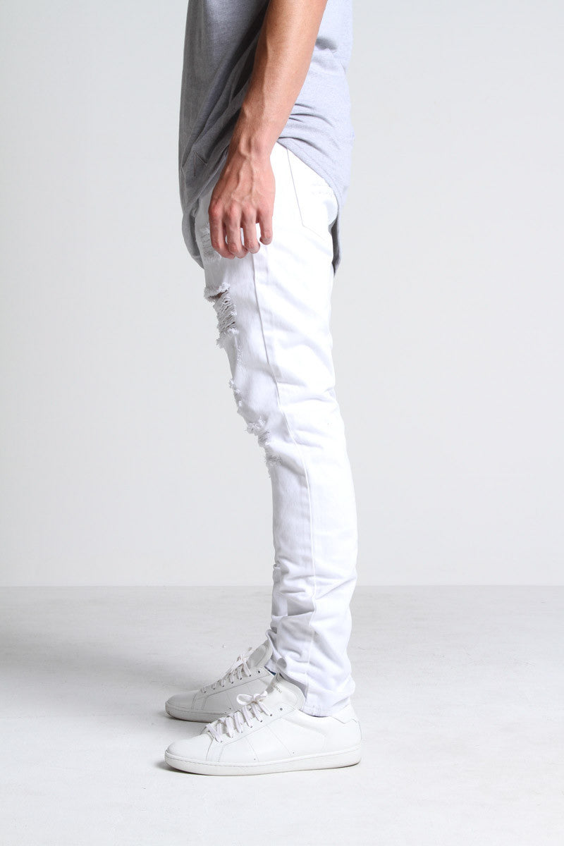 California Ripped Standard Denim (White)