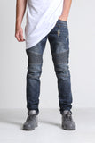 Elise Biker Denim (Blue Denim)