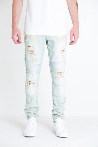 Spencer Biker Denim (White)