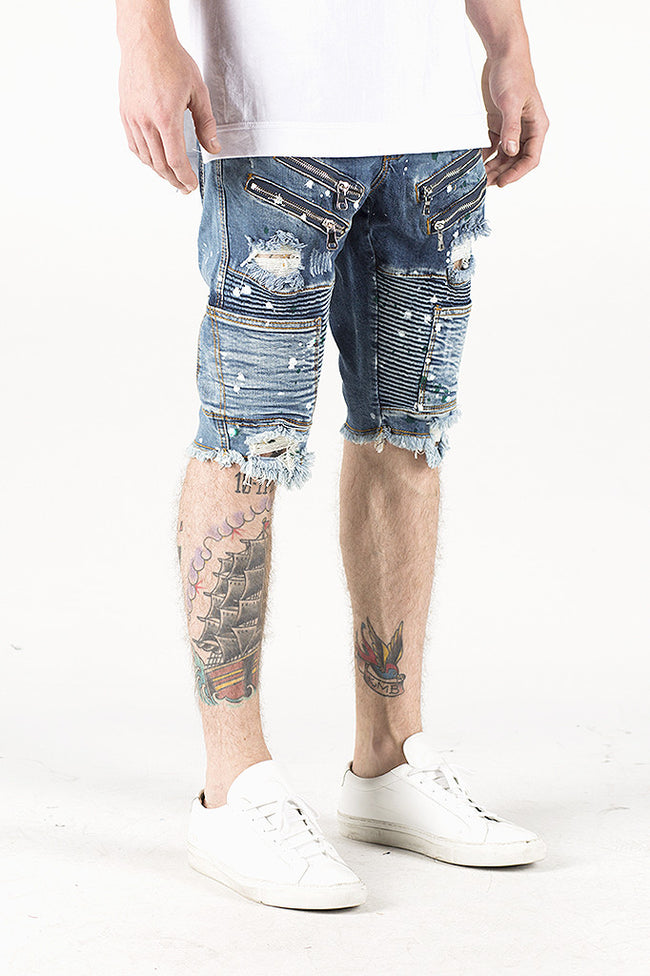 Lee Biker Shorts (Blue Wash)