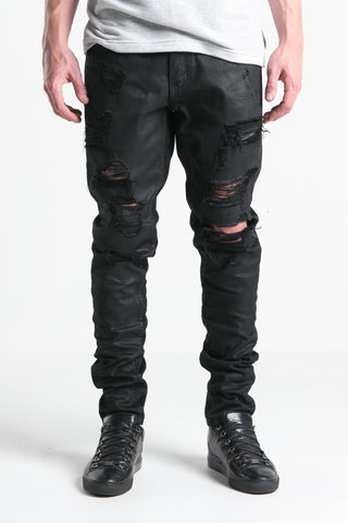 Phantom Ripped Standard Denim (Black Wax)