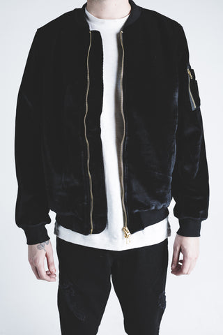 Plush Bomber Jacket (Black)