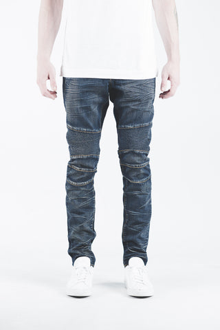 Spencer Biker Denim (Raw Indigo)