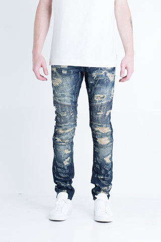 Strangler Biker Denim (Light Blue)