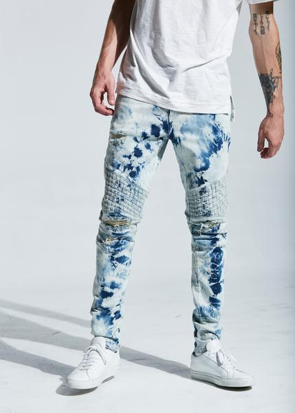 Turkish Biker Denim (Bleach Blue)