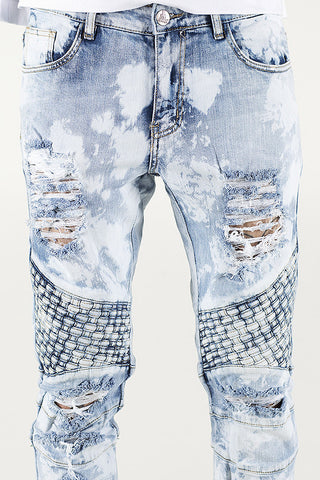 Turkish Biker Denim (Light Blue)