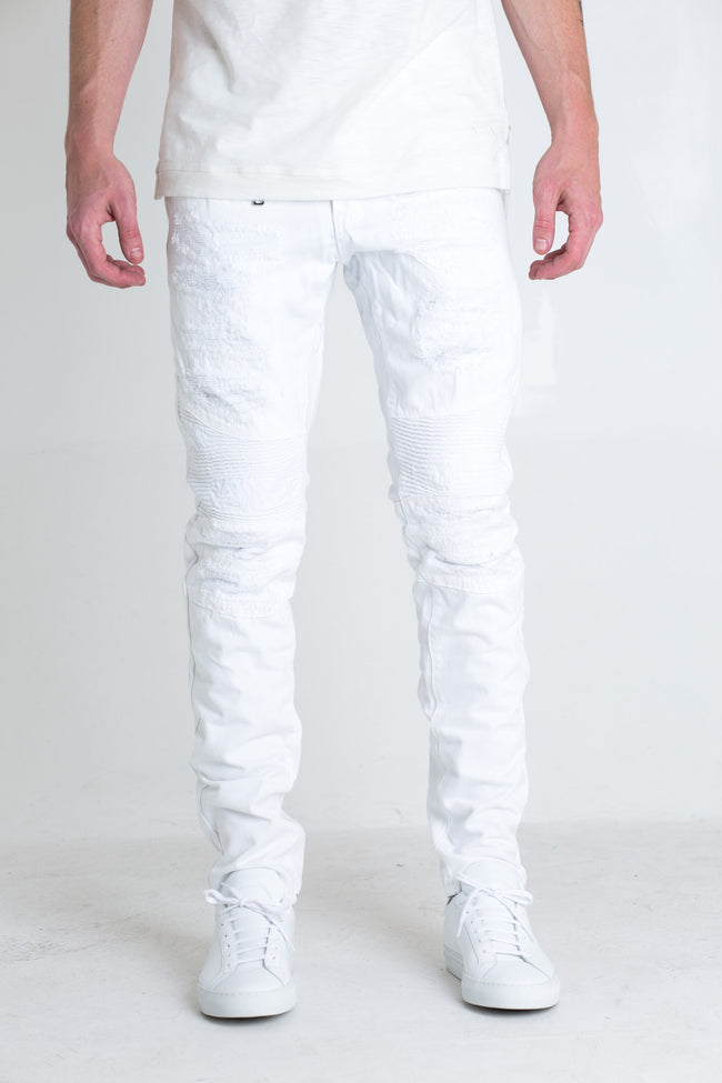 Viper Biker Denim (White)
