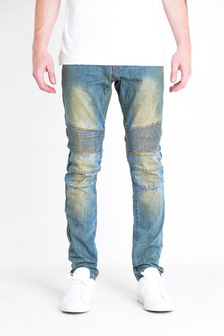 Volante Biker Denim (Washed Blue)