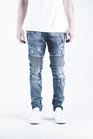 Lucas Biker Denim (Vintage Blue)