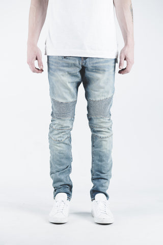 Spencer Biker Denim (Stone Wash)