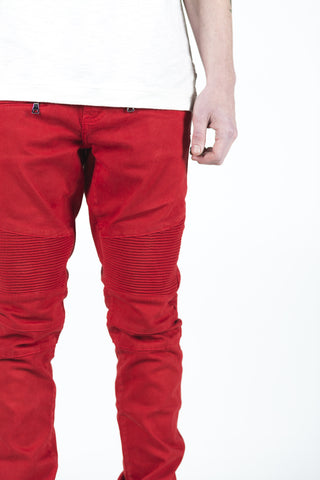 Permanent Collection Biker Denim - Red
