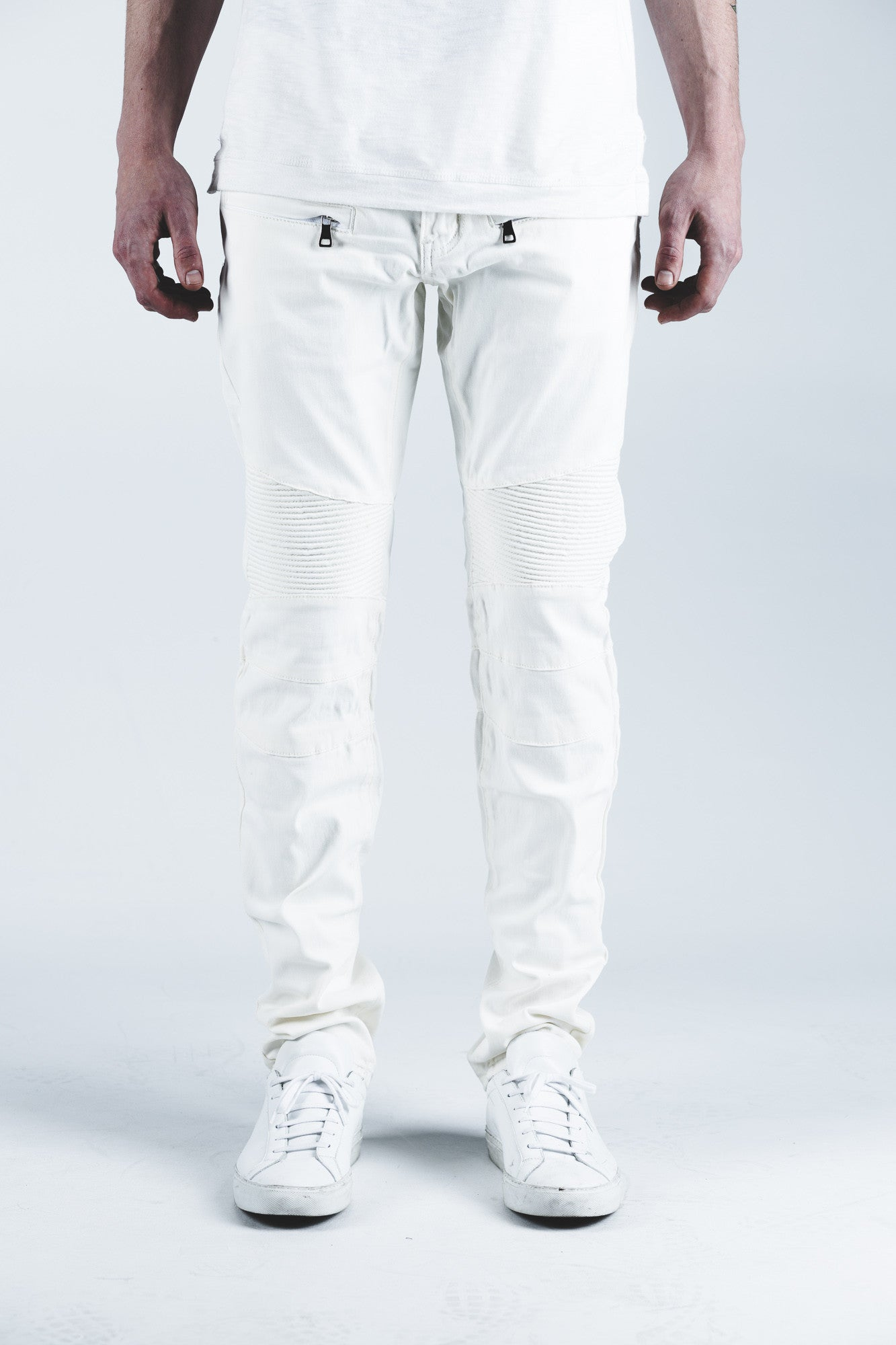 Hamptons Biker Denim (Off-White)