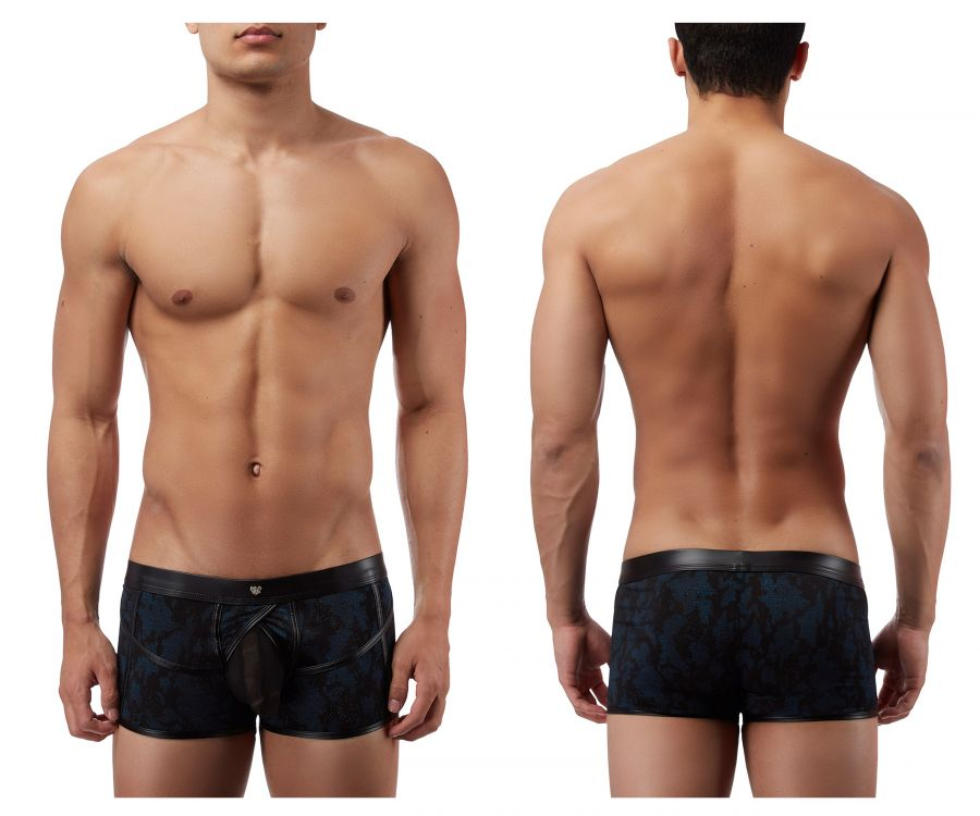 Male Power 134238 Strapped and Bound Strappy Short Boxer Briefs Color Black