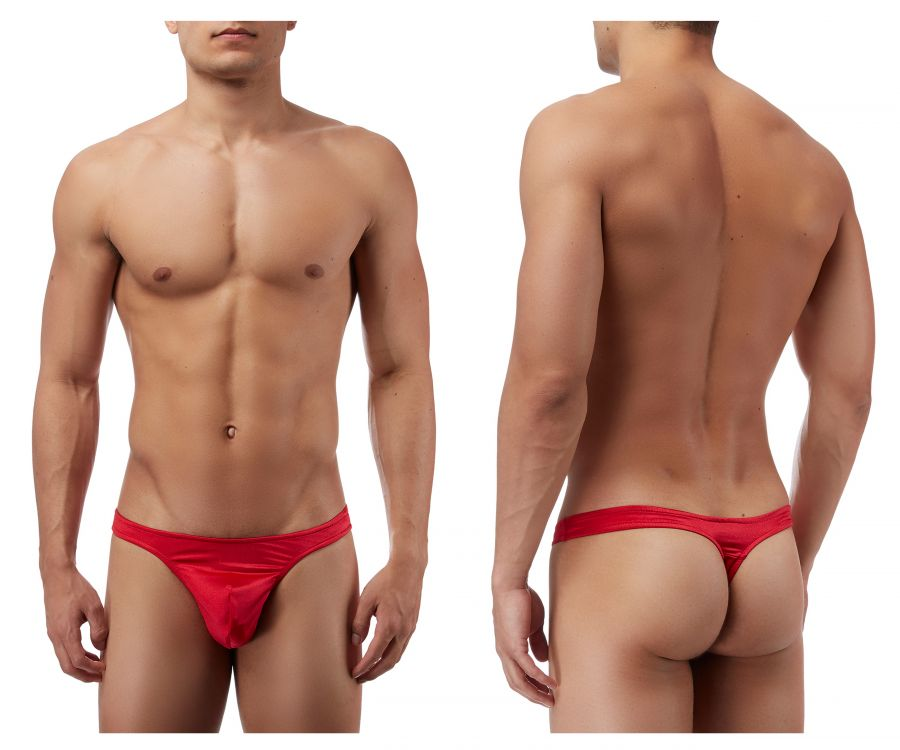 Male Power 442076 Satin Lycra Bong Thong Color Red