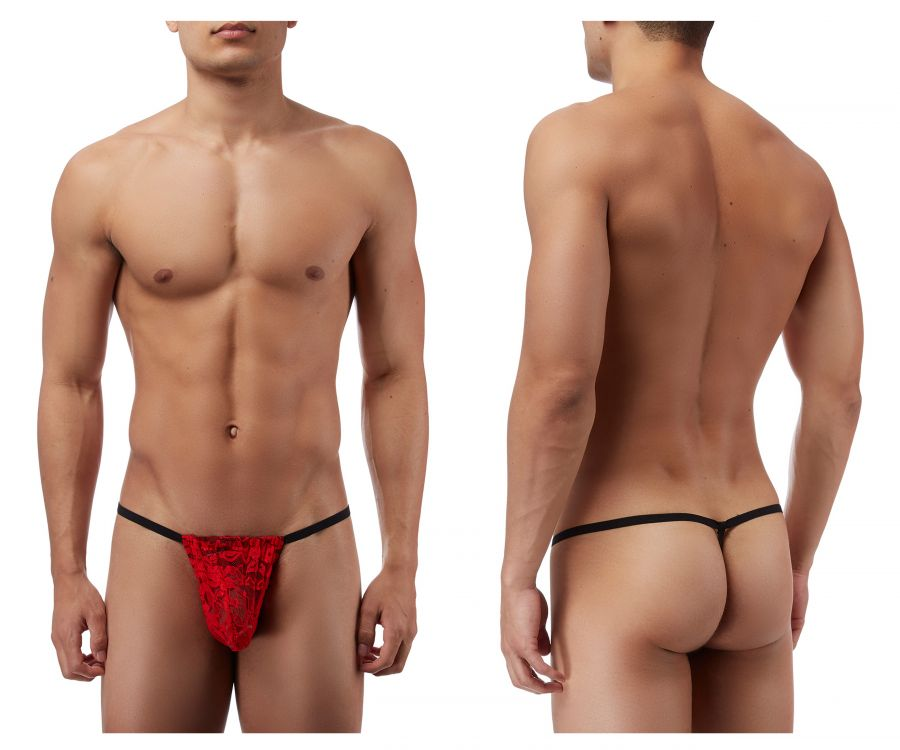 Male Power 450162 Stretch Lace Posing Strap Thong Color Red