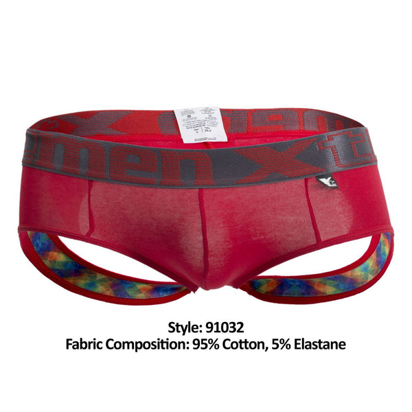 Xtremen 91032 Butt lifter Jockstrap Color Red