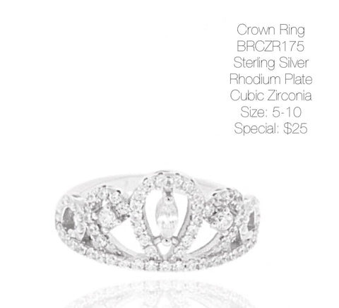 Crown Ring BRCZR175