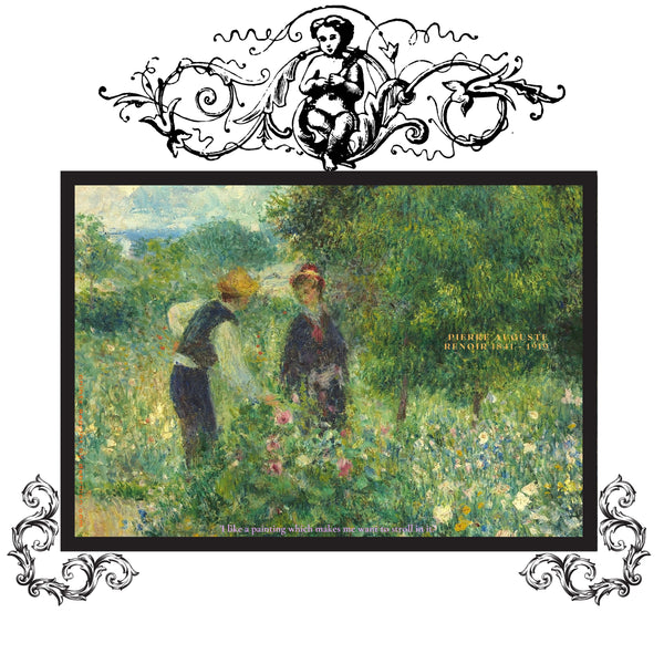 Renoir-Picking Flowers Quote Baroque on White
